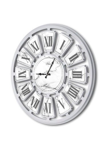 The Mia Duvar Saati - Marble 70 Cm Beyaz
